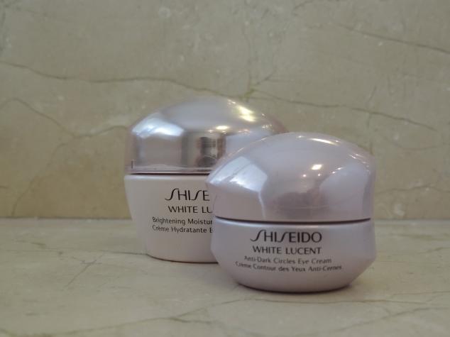 Shiseido White Lucent para rosto e zona dos olhos