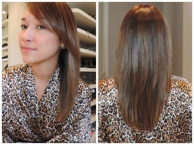 Aqui está o resultado da umectação dos cabelos com óleo de coco.