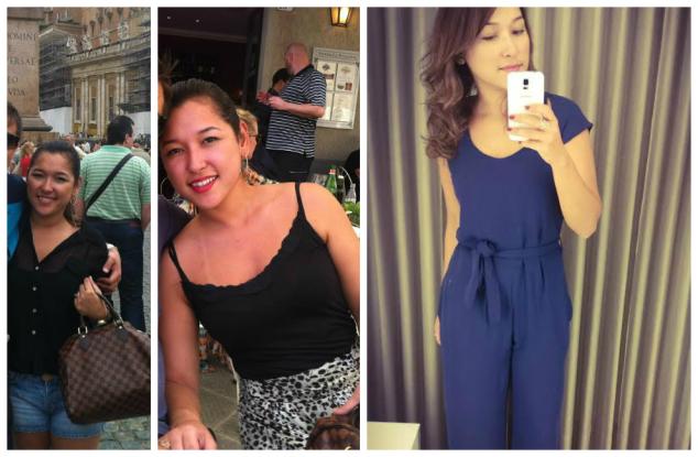 Nas duas primeiras fotos  quando tinha 29 anos e na última agora!